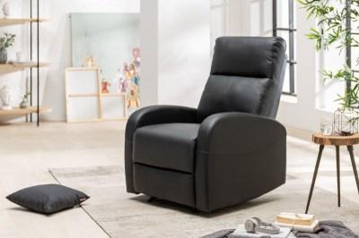 Ízléses fotel Movie II fekete műbőr