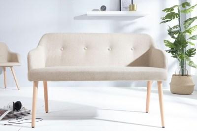 Dizajnová lavica Sweden prírodná
