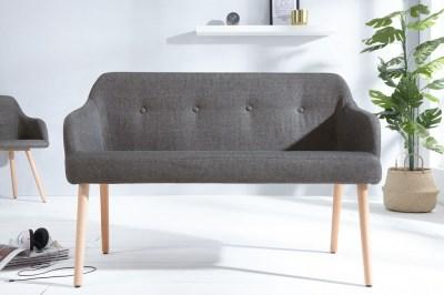 Dizajnová lavica Sweden tmavo sivá