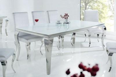 Étkezőasztal Rococo 200 cm fehér / ezüst
