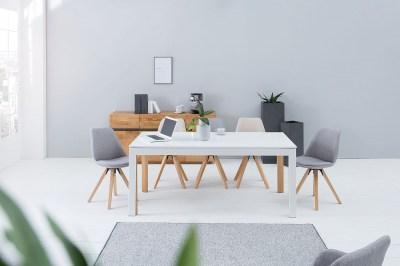 Jedálenský stôl Gama 180-420 cm / biela-dub