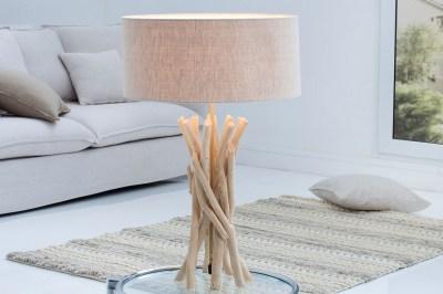 Stílusos asztali lámpa Casablanca / természetes
