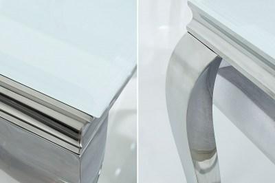 Jedálenský stôl Rococo 200 cm biela / strieborná
