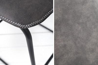 Dizajnová barová stolička Ester / vintage sivá