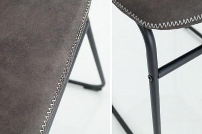 Dizajnová stolička Ester / vintage sivá