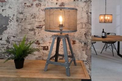 Stílusos asztali lámpa Metall  60 cm / szürke