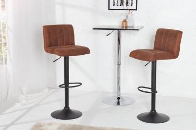 Bár szék Pretty vintage barna / 88-109 cm