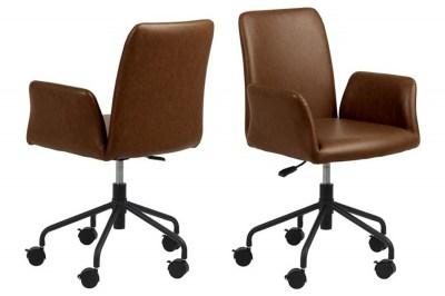 Irodai szék Allison barna műbőr