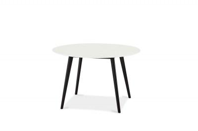 Jedálenský stôl Aaden, biela / čierna
