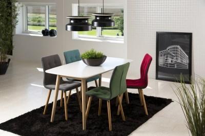 Étkezőasztal Naiara 150 cm tölgy fehér lakk