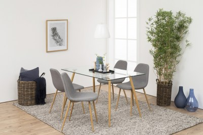 Étkezőasztal Nayeli 140 cm üveg II