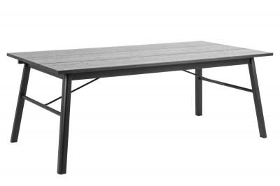 Étkezőasztal Nealy 200 cm fekete tölgy