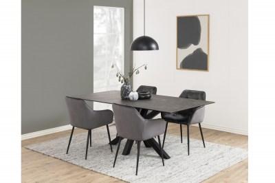 Étkezőasztal Neele 200 cm fekete