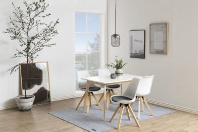 Étkezőasztal Niecy 120 cm fehér lakkozott
