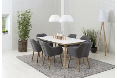 Étkezőasztal széthúzható Naiara 180/280 cm fehér tölgy