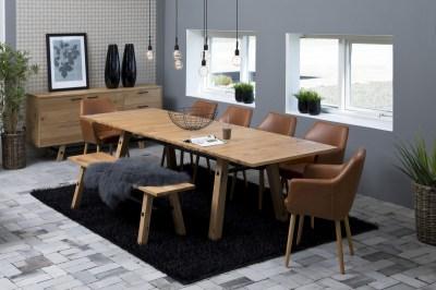Étkezőasztal bővíthető Nayana 160/250 cm csiszolt vad tölgy