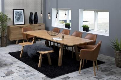 Étkezőasztal bővíthető Nayana 210/300 cm csiszolt vad tölgy