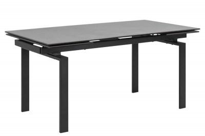Étkezőasztal bővíthető Neema 160/240 cm fekete üveg