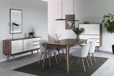Étkezőasztal bővithető Nicki 180/219,5 cm dió