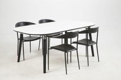 Étkezőasztal széthúzható Nicolina 180/280 cm fehér laminátum