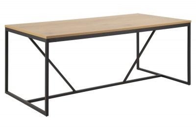 Étkezőasztal Naja 180 cm tölgy - fekete