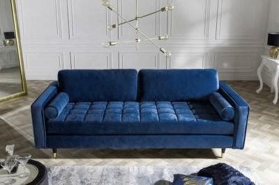 Stílusos ülőgarnitúra Adan - kék bársony