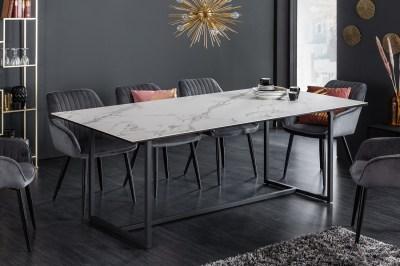 Kerámia étkezőasztal Sloane 200 cm fehér márvány