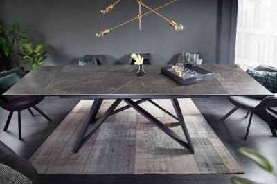Széthúzható kerámia étkezőasztal Callen 180-220-260 cm grafit