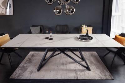 Széthúzható kerámia étkezőasztal Callen 180-220-260 cm szürke