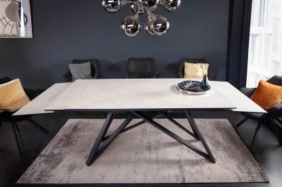 Széthúzható kerámia étkezőasztal Callen 180-220-260 cm beton
