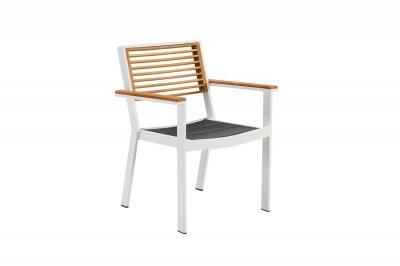 Kerti étkező szék HIGOLD - York Dining Arm Chair White/Black
