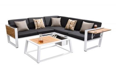 Kerti szett HIGOLD - York Corner Lounge White/Black Olefin