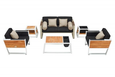 Kerti szett HIGOLD - York Lounge White/Black Olefin