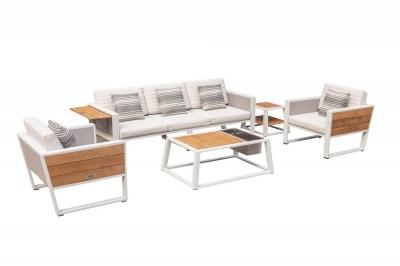 Kerti szett HIGOLD - York Lounge White/White Olefin