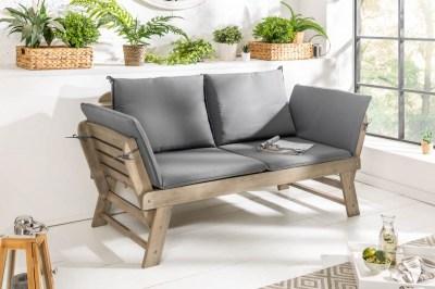 Kerti ülőpad Mutual 152 cm szürke akácia