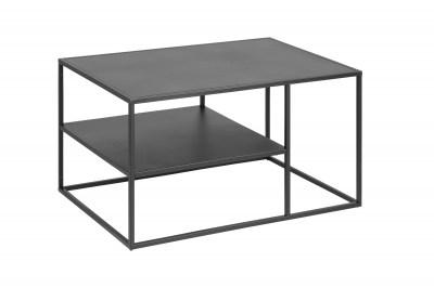Dohányzóasztal polccal Adda  90 cm - fekete