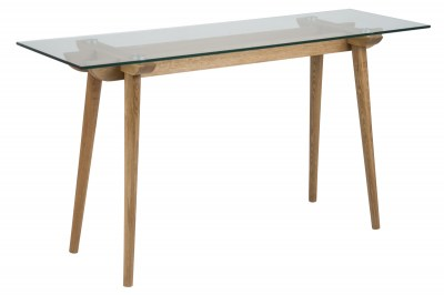 Konzol asztal Niharika 140 cm üveg