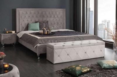 Luxus ülőpad Spectacular ezüstszürke bársony