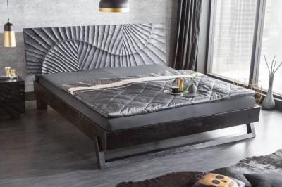 Luxus franciaágy Shayla 180 x 200 cm fekete mangófa
