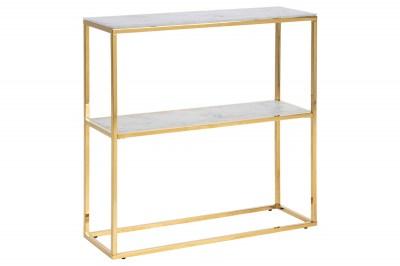 Luxus konzolasztal Agostino 79 cm arany - üveg