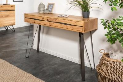 Luxus konzolasztal Fringe 120 cm vad tölgy