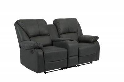 Luxus fotel Nissa pohár tartóval - szürke