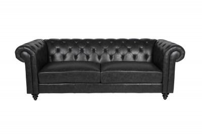 Luxus kanapé Ninetta Chesterfield - fekete