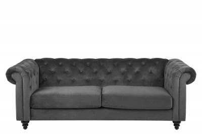 Luxus kanapé Ninetta Chesterfield - sötétszürke