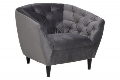 Luxus fotel Nyree - sötétszürke