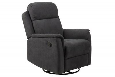 Luxus relax fotel Nanna - sötétszürke