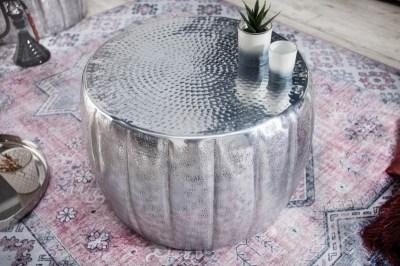 Stílusos dohányzóasztal Maroko 55 cm ezüst színű