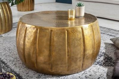 Stílusos dohányzóasztal Maroko 65 cm aranyszínű