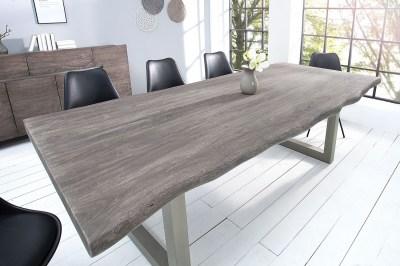 Luxus étkezőasztal Massive 200 cm / akác - szürke