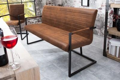 Stílusos ülőpad Maximiliano vintage barna